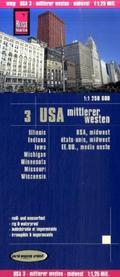 World Mapping Project USA, Mittlerer Westen; USA, Midwest; États-Unis, Midwest; EE.UU., medio oeste