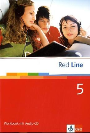 Red Line: Klasse 9, Workbook m. Audio-CD; Bd.5