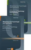 Wörterbuch der Psychologie und Psychiatrie / Dictionary of Psychology and Psychiatry, 2 Bde.