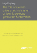 The role of German universities in a system of joint knowledge generation and innovation. A social network analysis of p