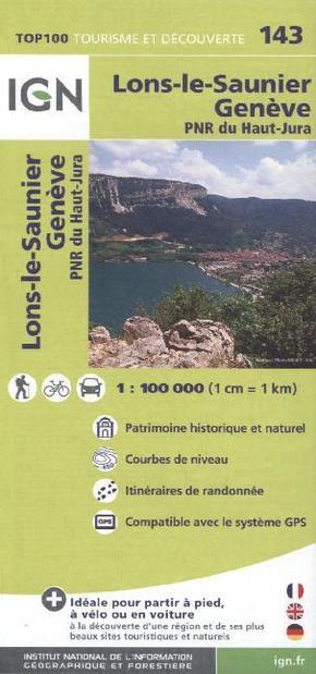 Ign karte tourisme et d couverte lons le saunier gen ve - Office de tourisme de lons le saunier ...
