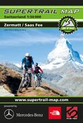 Supertrail Map Zermatt / Saas Fee