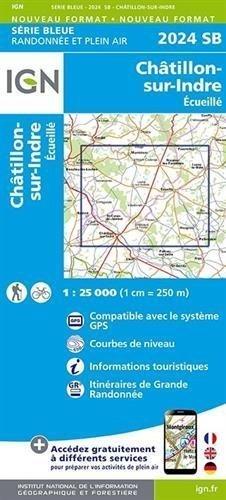Ign karte serie bleue chatillon sur indre ecueille - Office de tourisme chatillon sur indre ...