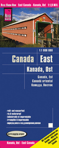 World Mapping Project Reise Know-How Landkarte Kanada Ost (1:1.900.000); East Canada / Canada, est / Canadá oriental