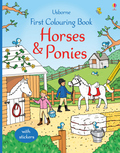 First Colouring Book Horses & Ponies