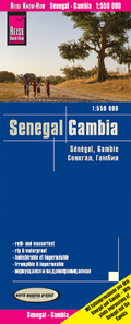 World Mapping Project Reise Know-How Landkarte Senegal, Gambia (1:550.000); Senegal, The Gambia / Sénégal, Gambie