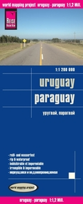 World Mapping Project Reise Know-How Landkarte Uruguay, Paraguay (1:1.200.000)