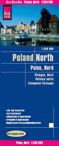 World Mapping Project Reise Know-How Landkarte Polen, Nord (1:350.000); Northern Poland / Pologne Nord / Polonia norte
