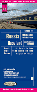 World Mapping Project Reise Know-How Landkarte Russland - vom Ural zum Baikalsee (1:2.000.000); Russia - From the Urals