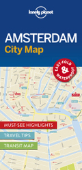 Lonely Planet City Map Amsterdam