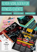 Flyer-Vorlagen für Fitnessstudios und Fitness-Events (DOWNLOAD)