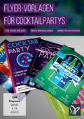 Flyer-Vorlagen für Cocktailpartys (DOWNLOAD)