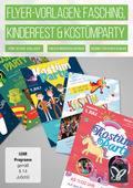 Flyer-Vorlagen für Kinderfest, Fasching und Kostümparty (DOWNLOAD)