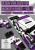 Design-Vorlagen für Musiker & Bands - Vol. 1 (DOWNLOAD)