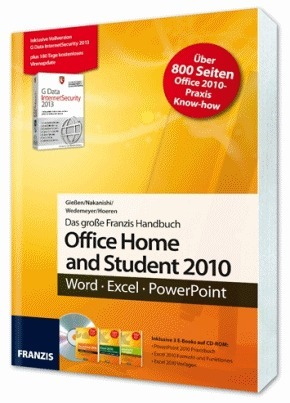 office home and student 2010 handbuch inkl vollversion g data internetsecurity 2013 3 e. Black Bedroom Furniture Sets. Home Design Ideas