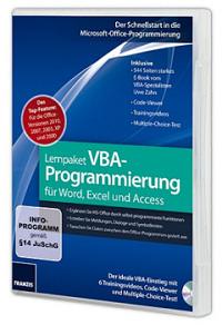 Lernpaket vba programmierung für word excel und access