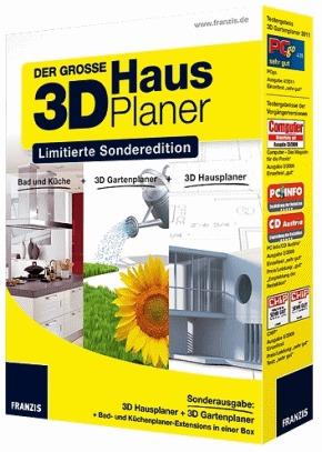 Der grosse 3d hausplaner limitierte sonderedition - Franzis 3d gartenplaner ...