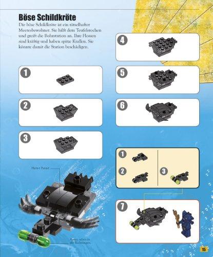 lego buch steine set atlantis mit ber 140 elementen und 2 minifiguren. Black Bedroom Furniture Sets. Home Design Ideas