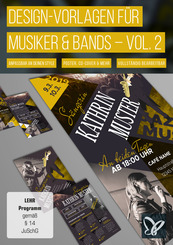 Design-Vorlagen für Musiker & Bands - Vol. 2 (DOWNLOAD)